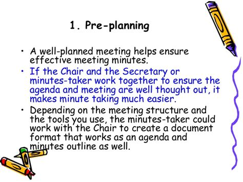 Chairing Effective Meetings by How To Write Effective Meeting Minutes