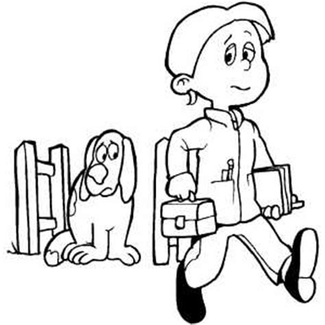person walking coloring page guy walking to school coloring page