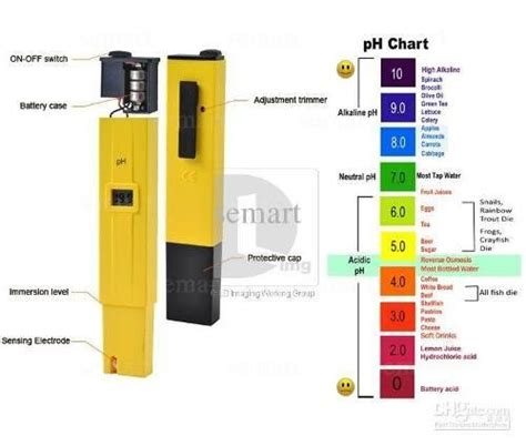 Alat Pengukur Ph Pada Air ph meter standard alat ukur asam basa air