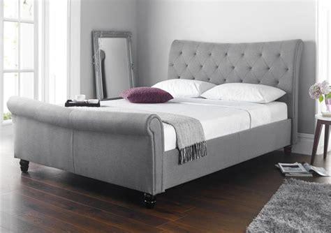 Grey Sleigh Bed Seville Upholstered Sleigh Bed Grey Upholstered Beds Beds Stuff For Bedroom Pinterest