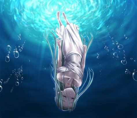 Anime Art Falling Sketch Of Woman And Man Underwater Google Search Art Stuff