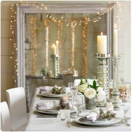 elagant christmas table tops in white theme breathtaking tablescape ideas