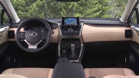 lexus nx 200t interior 2015 lexus nx 200t exterior and interior youtube
