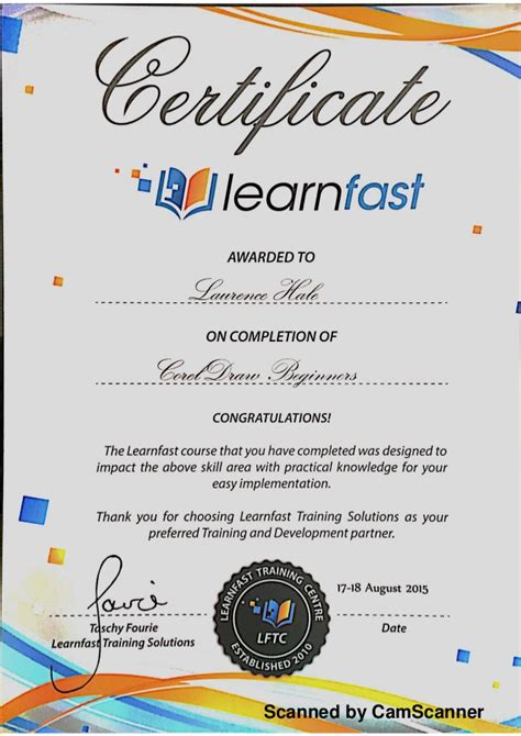 design certificate using corel draw learnfast corel draw certificate