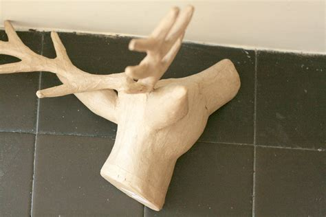 How To Make A Paper Deer - decorated paper maiche wall deer
