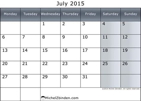 template of july 2015 43 best july 2015 calendar images on printable