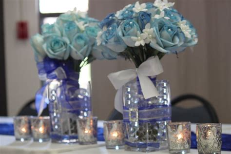 blue and silver wedding centerpieces www imgkid