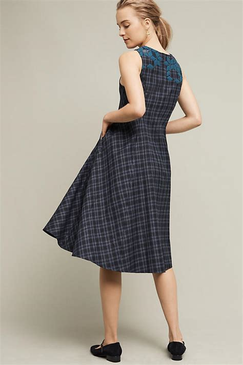 plaid swing dress petaled plaid swing dress anthropologie