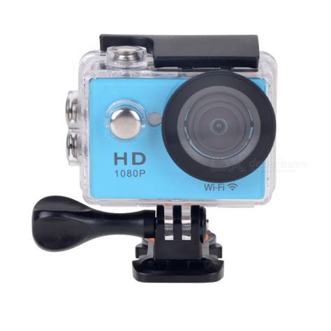 Sport H 264 1080p 12mp 1 5 Ltps Lcd 170wide Angle Fish Eye w9s 1080p wi fi waterproof 12mp sports w 2 quot lcd hdmi blue free shipping dealextreme