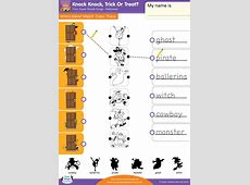 Knock Knock, Trick Or Treat? Worksheet – Match, Color ... Milo Tree