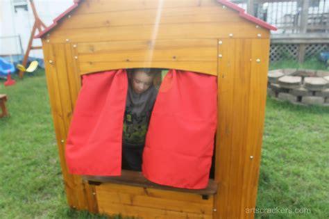 playhouse curtains kidkraft outdoor playhouse curtains arts crackers