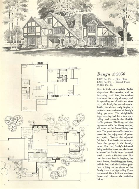 Tudor Style Floor Plans by Vintage House Plan Vintage House Plans 1970s Homes