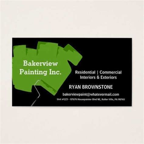 painter business card template free painting business cards free freemium templates