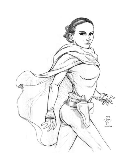 star wars queen amidala coloring page ep ii padme amidala by everwho on deviantart