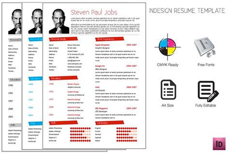 adobe indesign templates free adobe indesign resume template on behance
