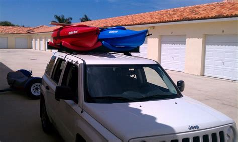 Car Top Carriers Without Roof Rack by Car Top 2 Kayak Rack Roof Rack Cars Only About 30 Bucks
