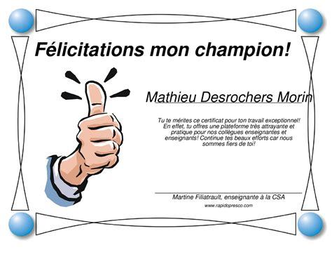 Certificat Modèle Gratuit