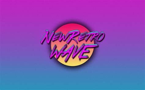 retro wave vintage synthwave neon  retro
