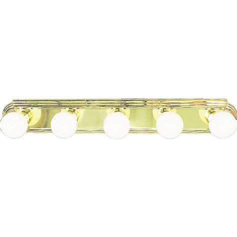 Polished Brass Vanity Lights Volume Lighting 5 Light Polished Brass Bath And Vanity Light V1125 2 The Home Depot