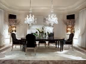 Exceptionnel Table Ronde Salle A Manger But #7: salle-manger-contemporaine-n%C3%A9o-baroque-peinture-blanc-lustres-cristal.jpg.jpg
