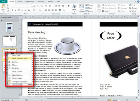 microsoft publisher catalog templates creating and publishing catalogs for your business using