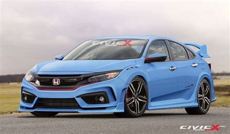 honda civic type r civicx imagines 2017 honda civic type r hatchback prototype