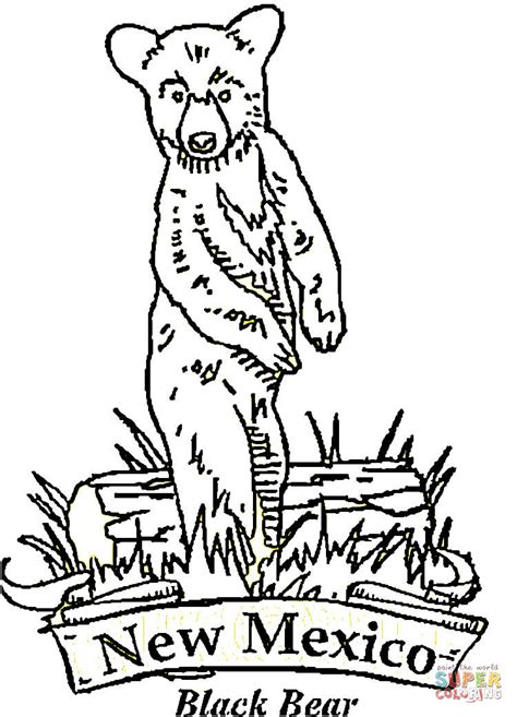 New Mexico Bear Coloring Page Free Printable Coloring Pages New Mexico Coloring Pages