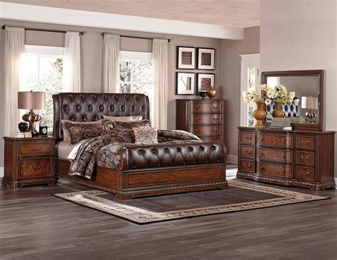 homelegance bedroom set homelegance brompton lane upholstered bedroom set cherry