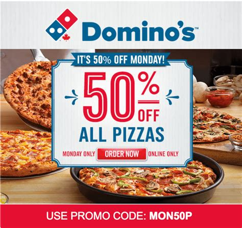 domino pizza offer today domino s pizza canada monday surprise offers save 50 off