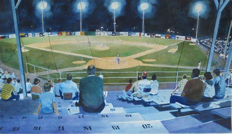 paint nite stadium quincy baseball paintings by artist robert a wieferich