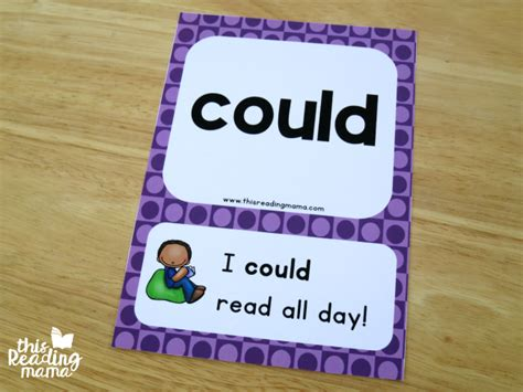 word cards for sentences grade sight word sentence cards free this
