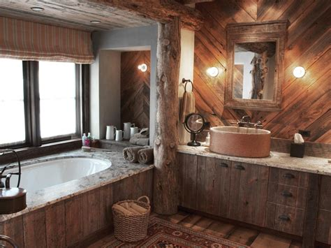 Rustic Bathroom Wall rustic bath rustic bathroom with wood walls rustic