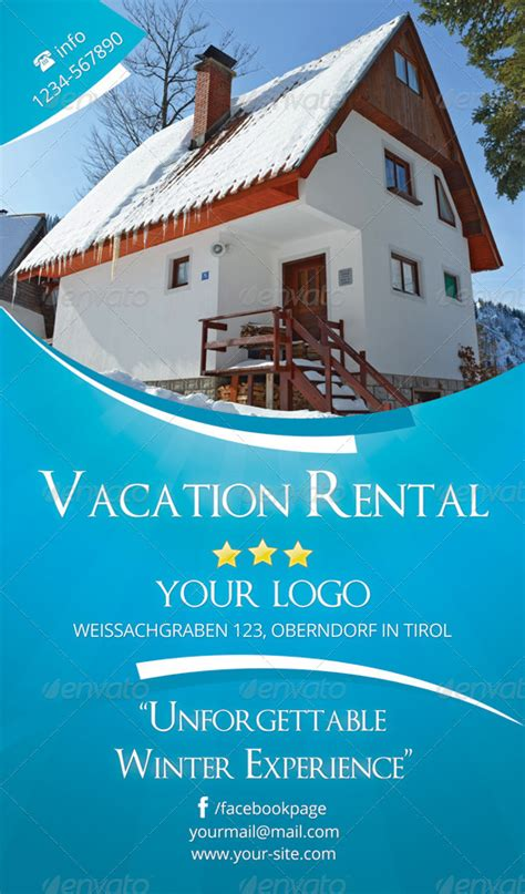Vacation Rental Flyer Rsplaneta Graphic Design Vacation Rental House Template