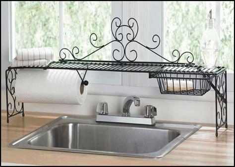 the kitchen sink shelf ideas kitchen 2 tier scrolled black the sink shelf