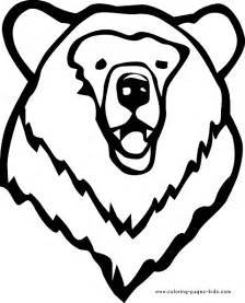 simple bear head coloring coloring pages