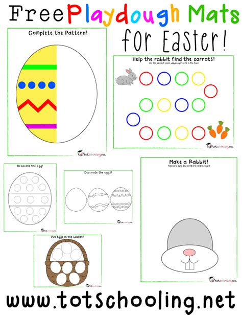 free printable spring playdough mats free easter playdough mats free homeschool deals