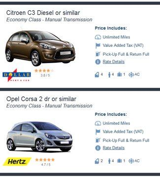 compact cars vs economy economy vs compact car rental car class differences guide