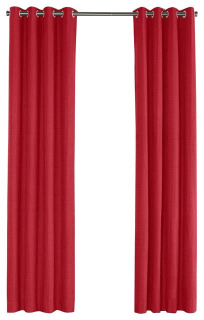 crimson red curtains crimson red linen grommet curtain contemporary