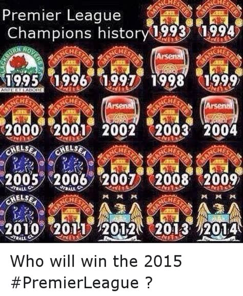 epl winners since 2000 premier league chions history 1993 1994 ches 19957 1996