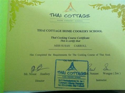 Thai Cottage Home Cookery School by
