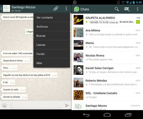 what s my android version whatsapp con interfaz holo ya disponible para instalar el androide libre