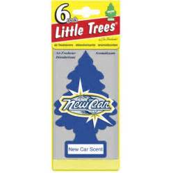 Car Air Freshener Tree Tree Air Freshener 6pk New Car Walmart