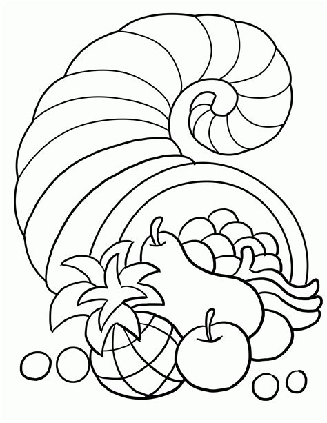 Harvest Coloring Page by Thanksgiving Harvest Coloring Pages Coloring Home