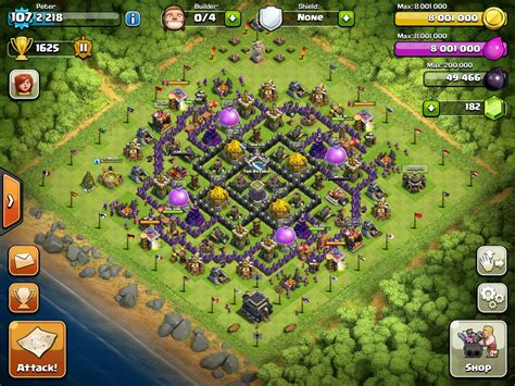 th9 layout update th9 farming base layout www pixshark com images