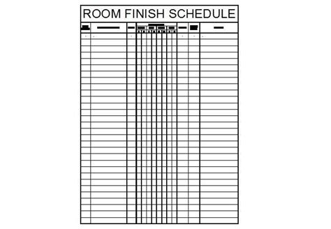 room finish schedule template dwg cadblocksfree cad