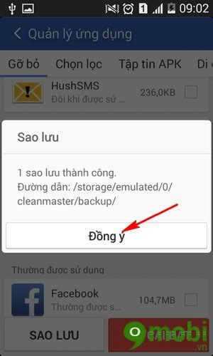 backup master apk backup application by clean master on android