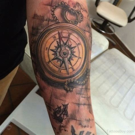 map and compass tattoo map tattoos designs pictures page 12