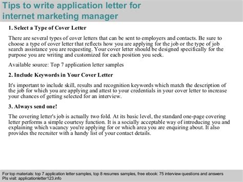 application letter for marketing manager international marketing manager application letter
