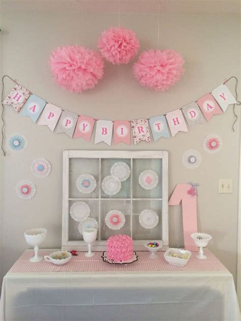 shabby chic first birthday first birthday pinterest