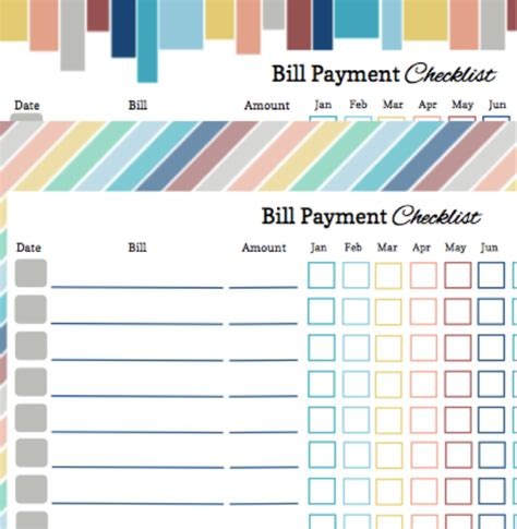best photos of monthly bill payments printable monthly
